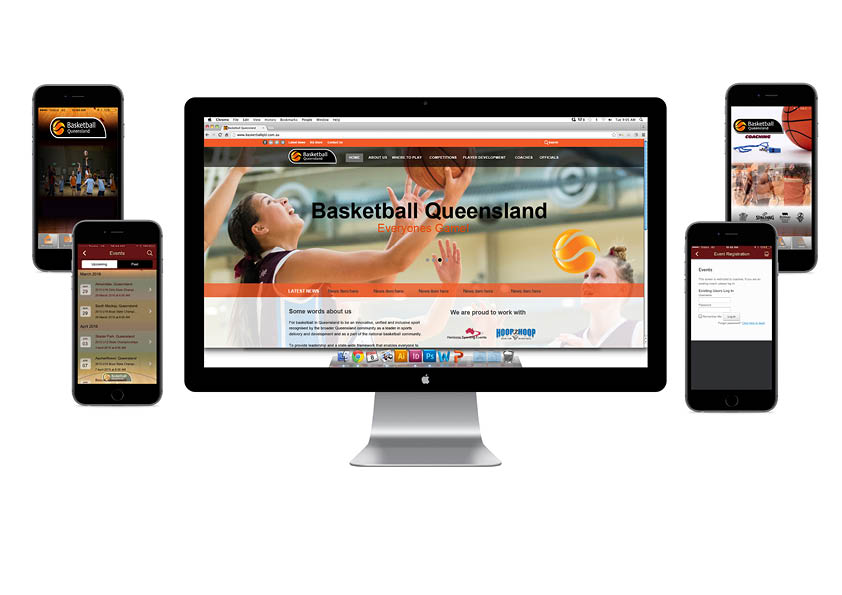 Basketball Queensland Website and App Case Study Image