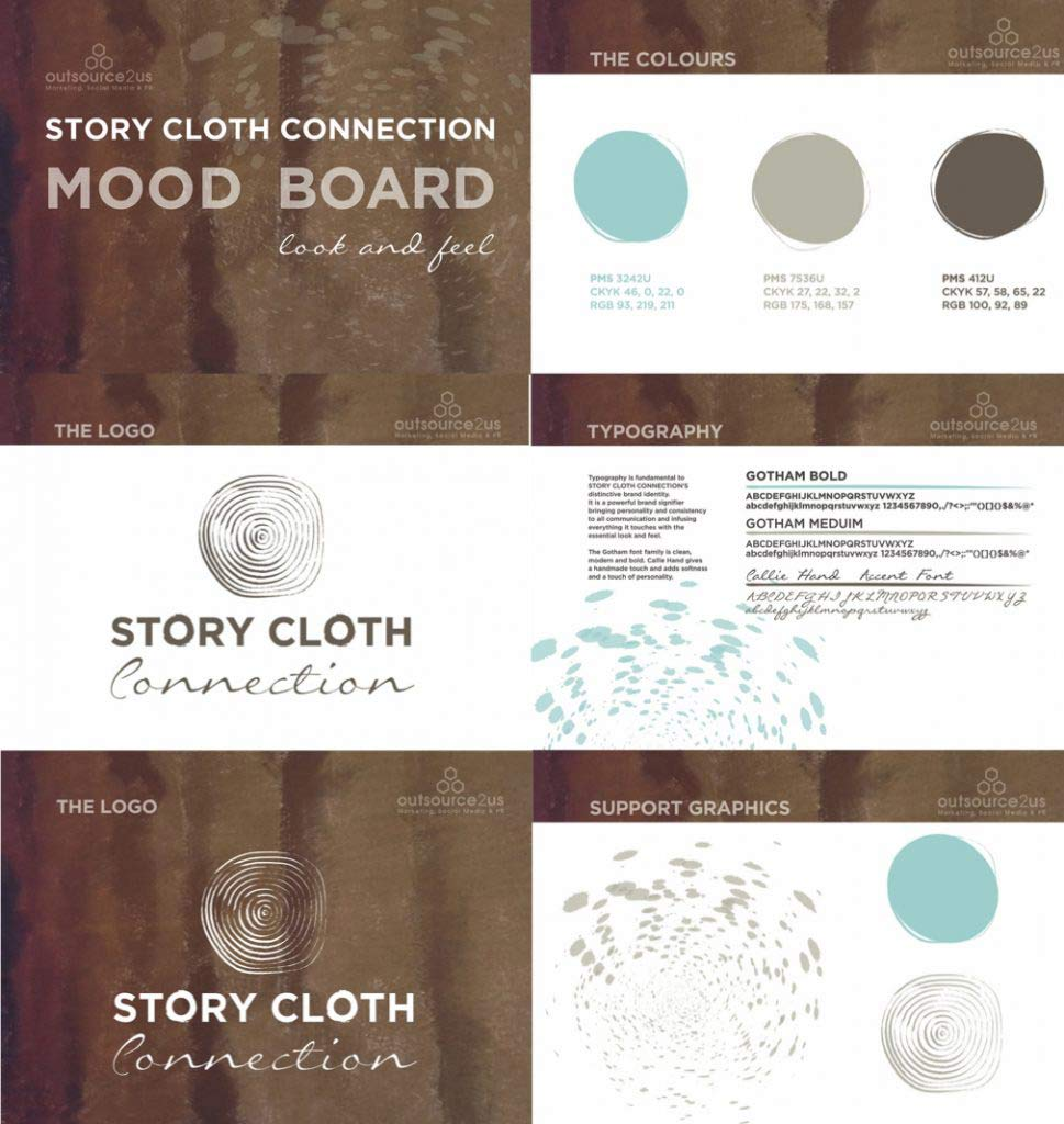 Story Cloth Mood Board and Style Guide