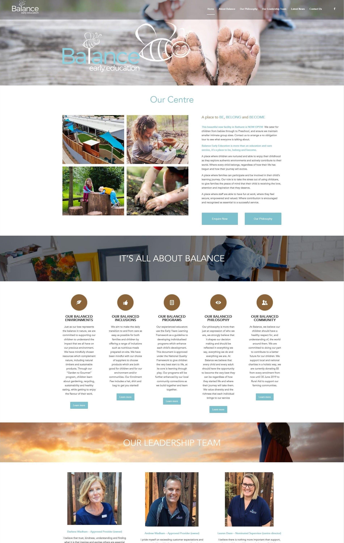 Balance Early Education Website - O2Us