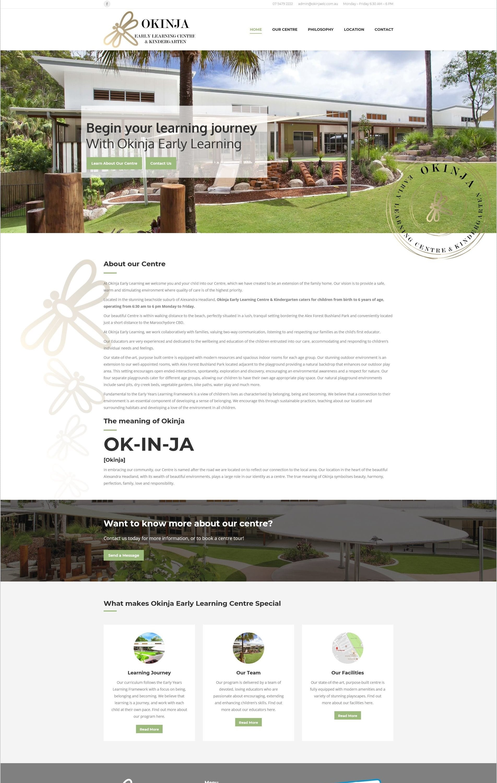 Okinja Website - O2Us