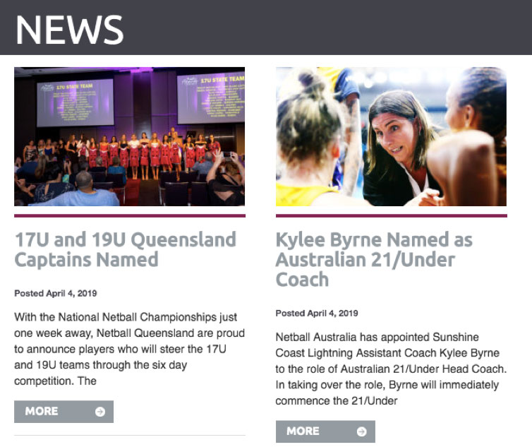 Netball Queensland blog page